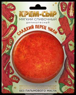 """Сыр мягкий сливочный """"Сладкий перец Чили"""" 120 гр - фото 4897"""
